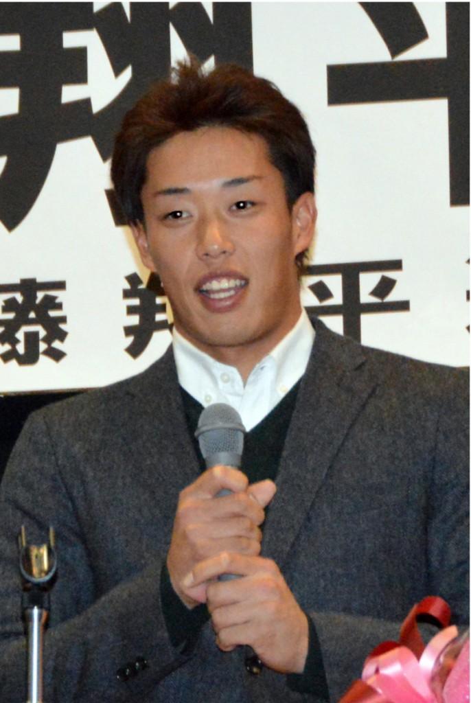 来季に向けて決意を語る加藤翔平選手